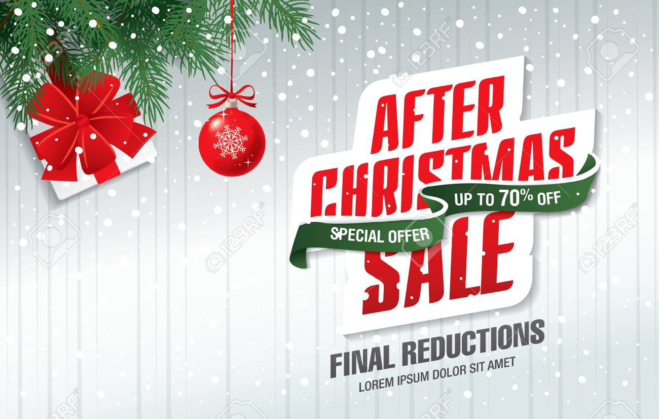 5bec9c0702 After Christmas Sale Banner Royalty Free Cliparts, Vectors, And ...