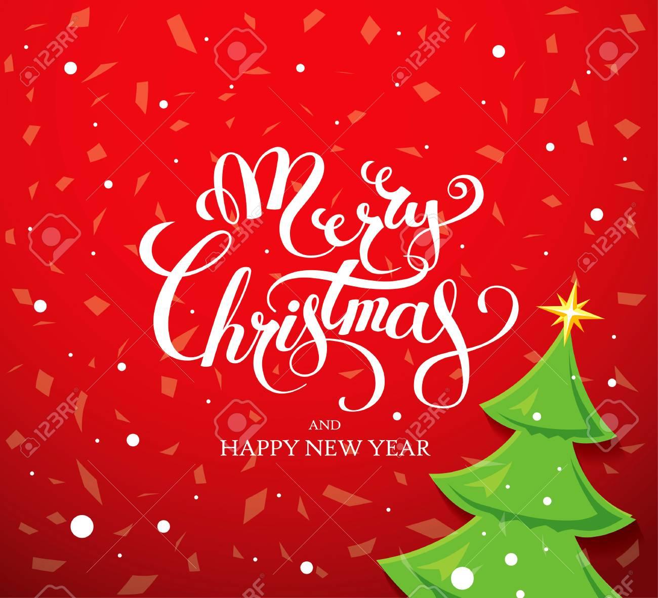 Immagini Auguri Di Natale E Buon Anno.Biglietto Di Auguri Di Natale Buon Natale E Felice Anno Nuovo