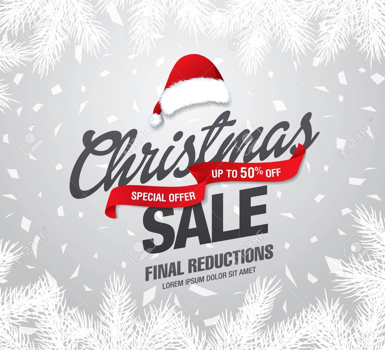 Christmas sale banner, vector illustration - 67788315