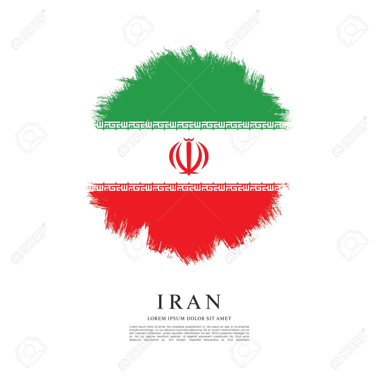 Flag of iran brush stroke background royalty free cliparts vectors flag of iran brush stroke background stock vector 69502703 buycottarizona Choice Image