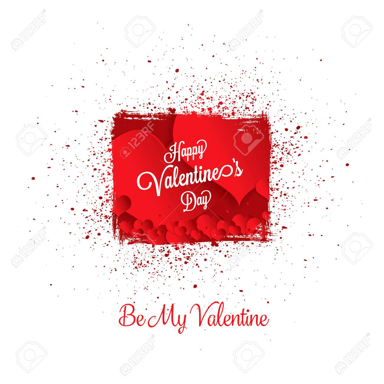 Valentines Greeting Card Happy Valentines Day Royalty Free