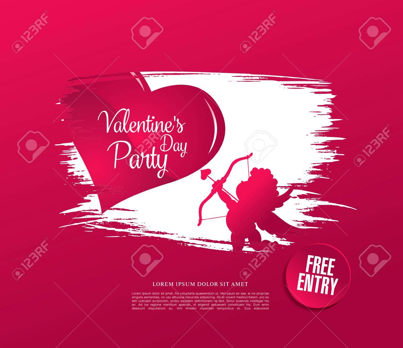 Diseño De La Plantilla Del Cartel Del Día De San Valentín ...