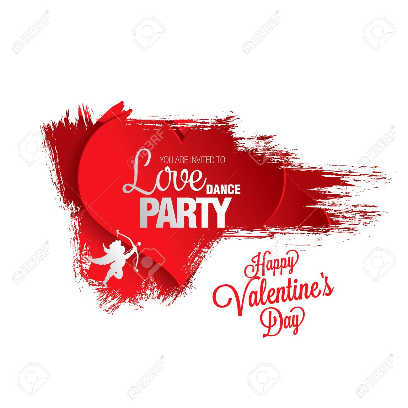 Valentine S Day Poster Template Design Royalty Free Cliparts