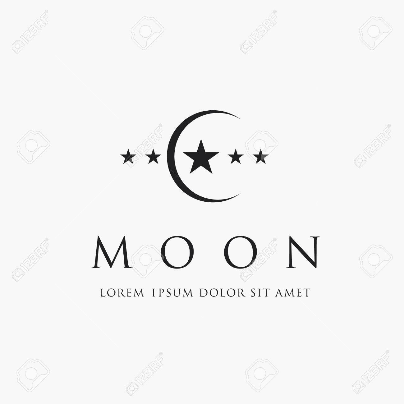 Moon And Star Logo Islam Symbol Royalty Free Kliparty Vektory A