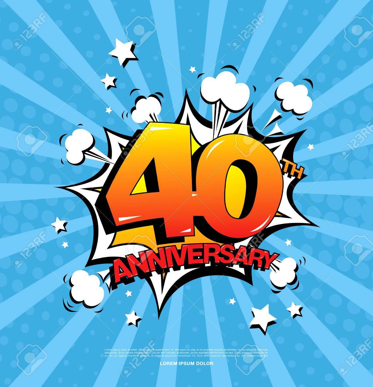 40th Anniversary Emblem Forty Years Anniversary Celebration