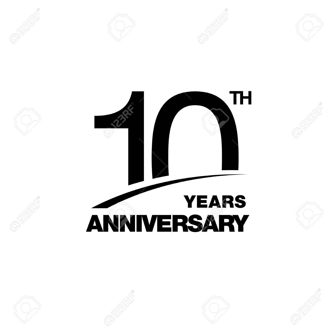 10th anniversary emblem ten years anniversary celebration symbol rh 123rf com 10th Anniversary Banner Logos Baseball Logos Clip Art