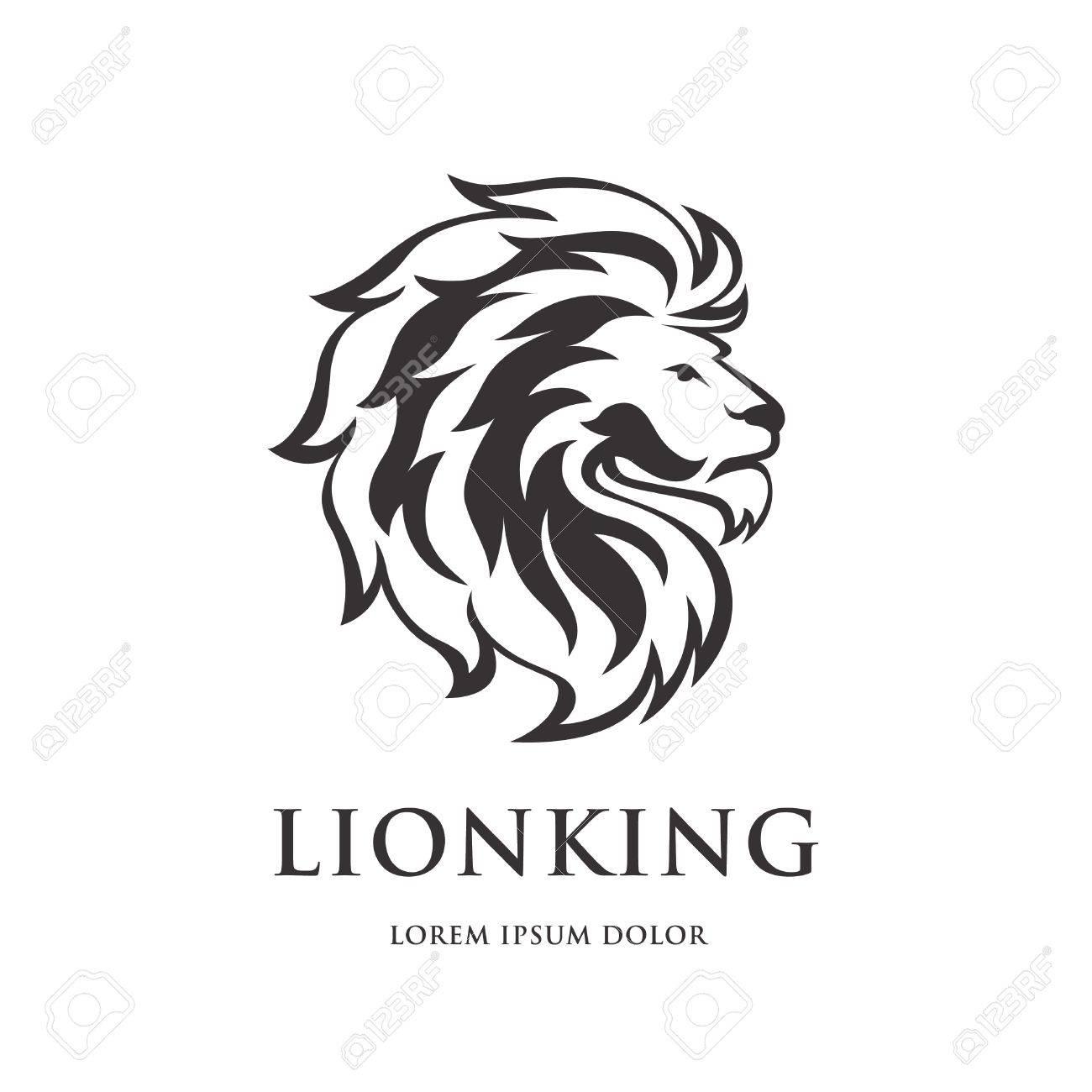 lion logo design stock vector 77235244
