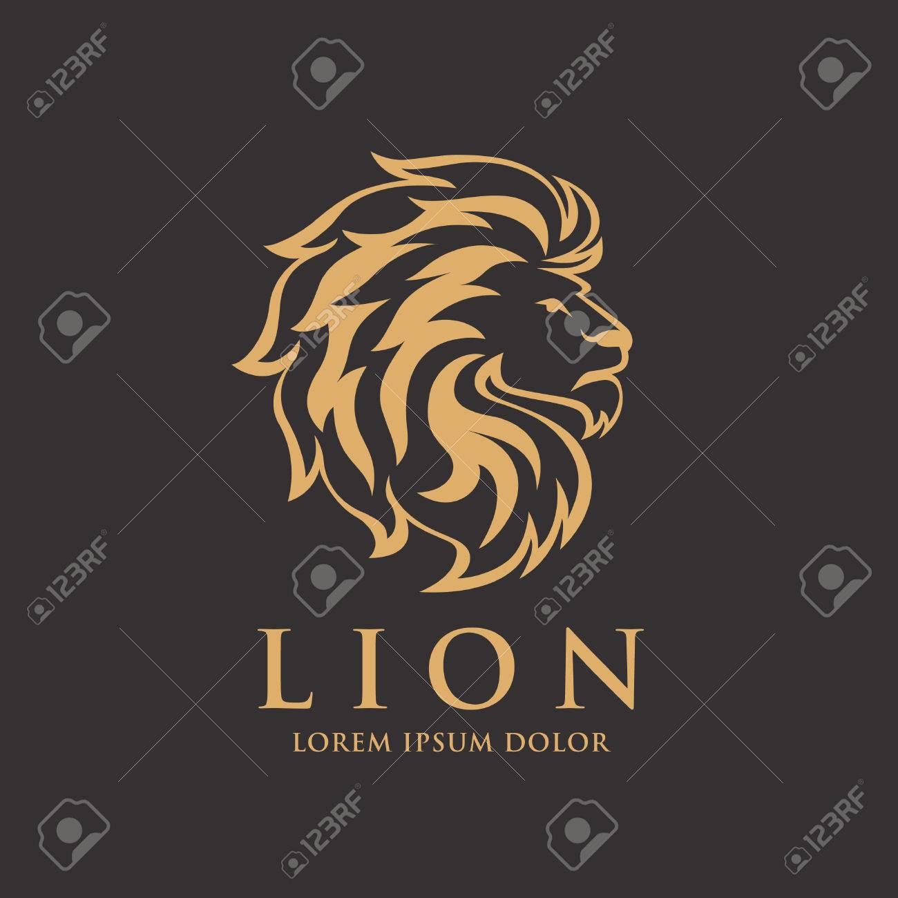 lion logo design stock vector 77235242