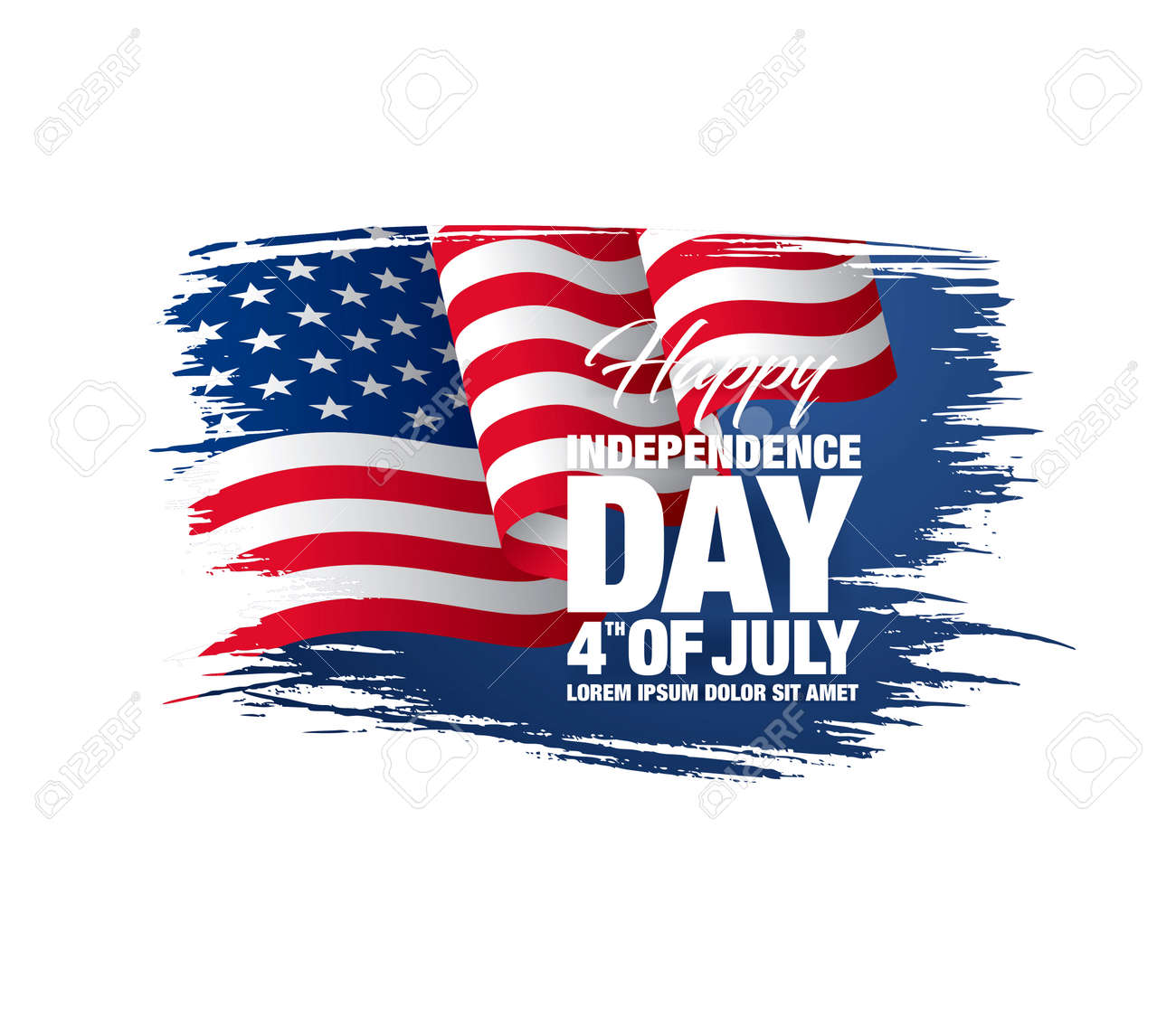 Fourth of July Independence Day. Vector illustration - 140184602