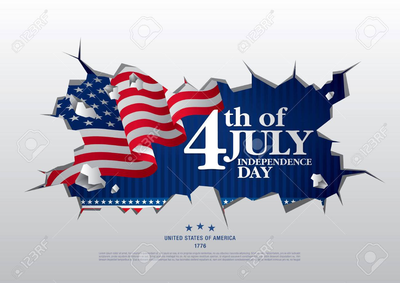 Fourth of July Independence Day; Vector illustration - 80932889