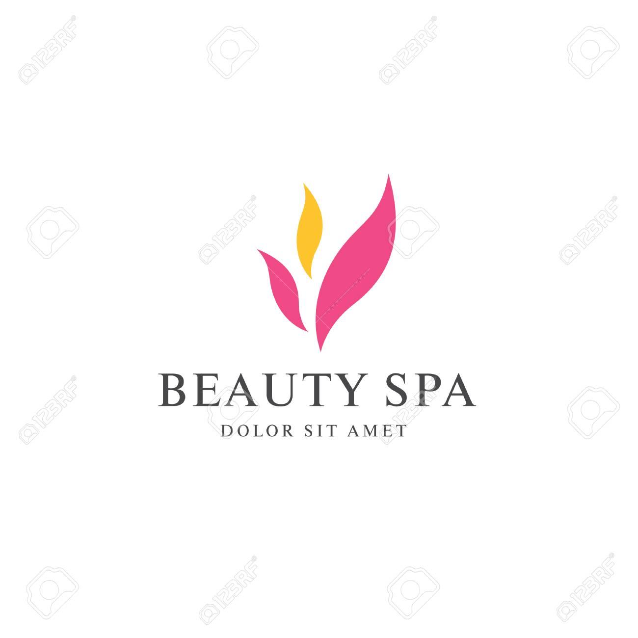 Beauty Spa Logo Design Royalty Free Cliparts Vectors And Stock