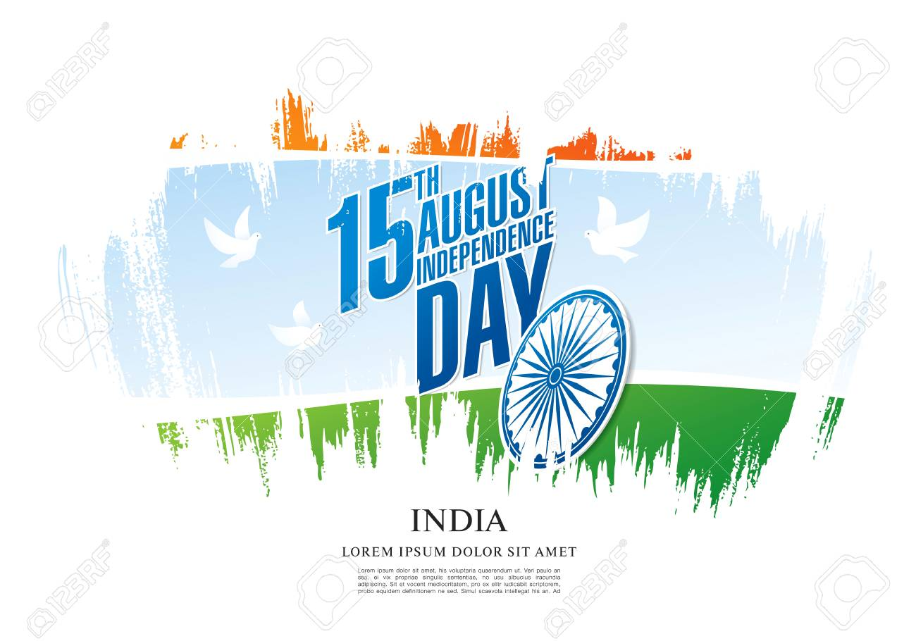 Greeting Card For The Independence Day Of India 15 Th Of August