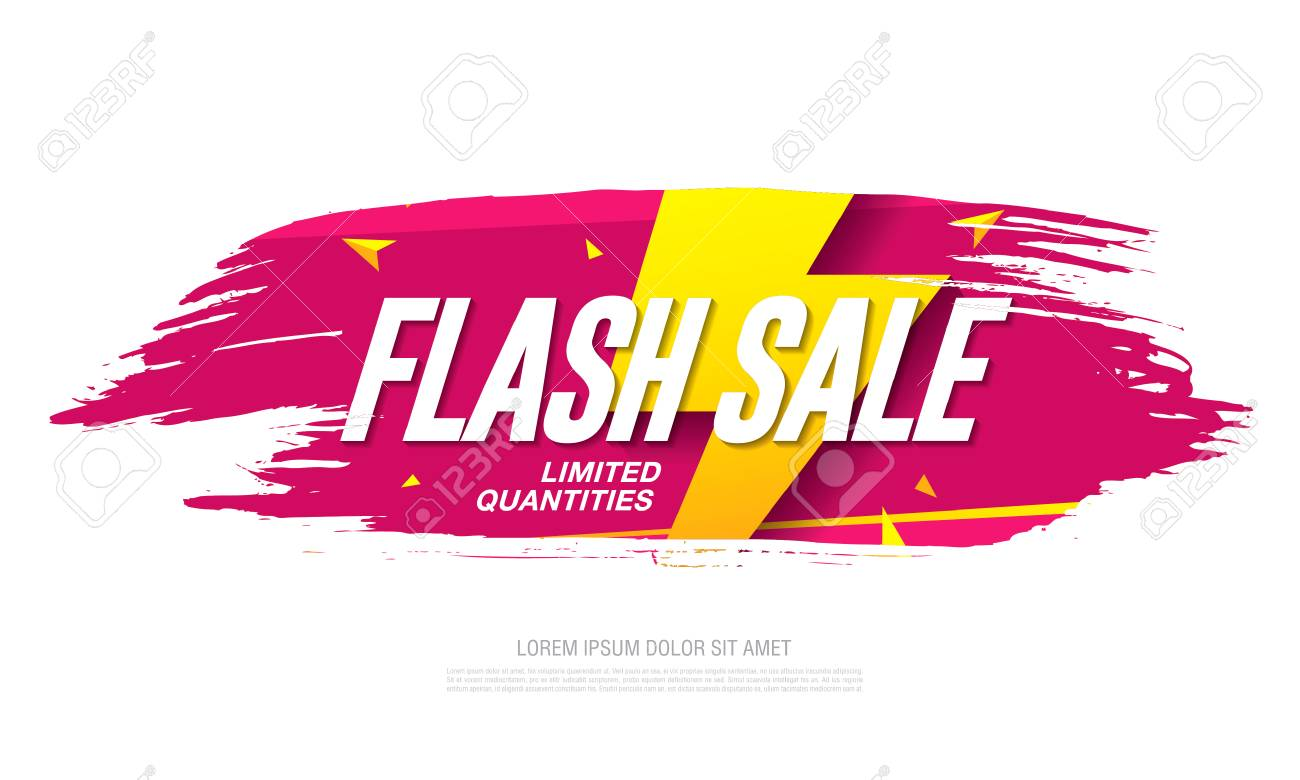 Flash sale banner template design - 99074520