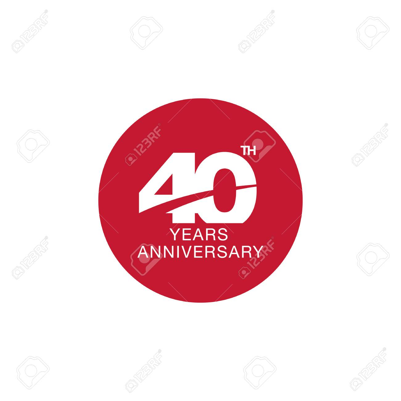 40th Anniversary Emblem Forty Years Anniversary Celebration