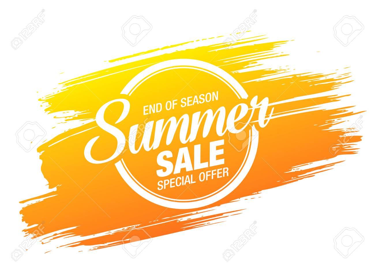 summer sale banner layout design - 121434362