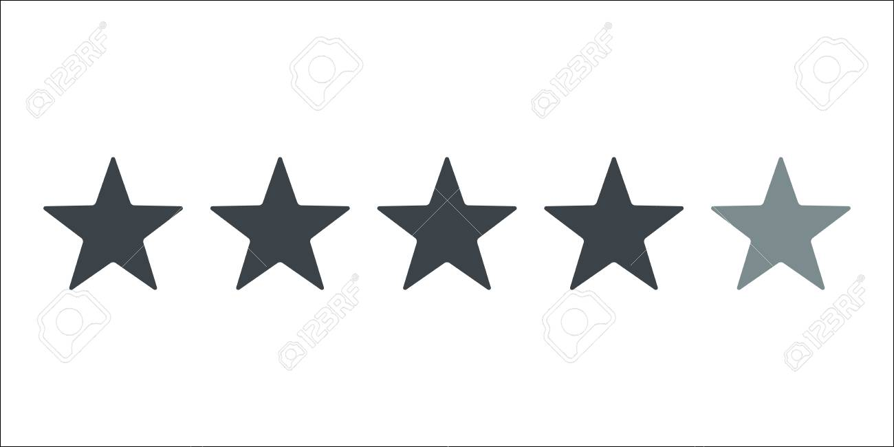 Five Star Hotel Business Concept Vector Icon Success Business
