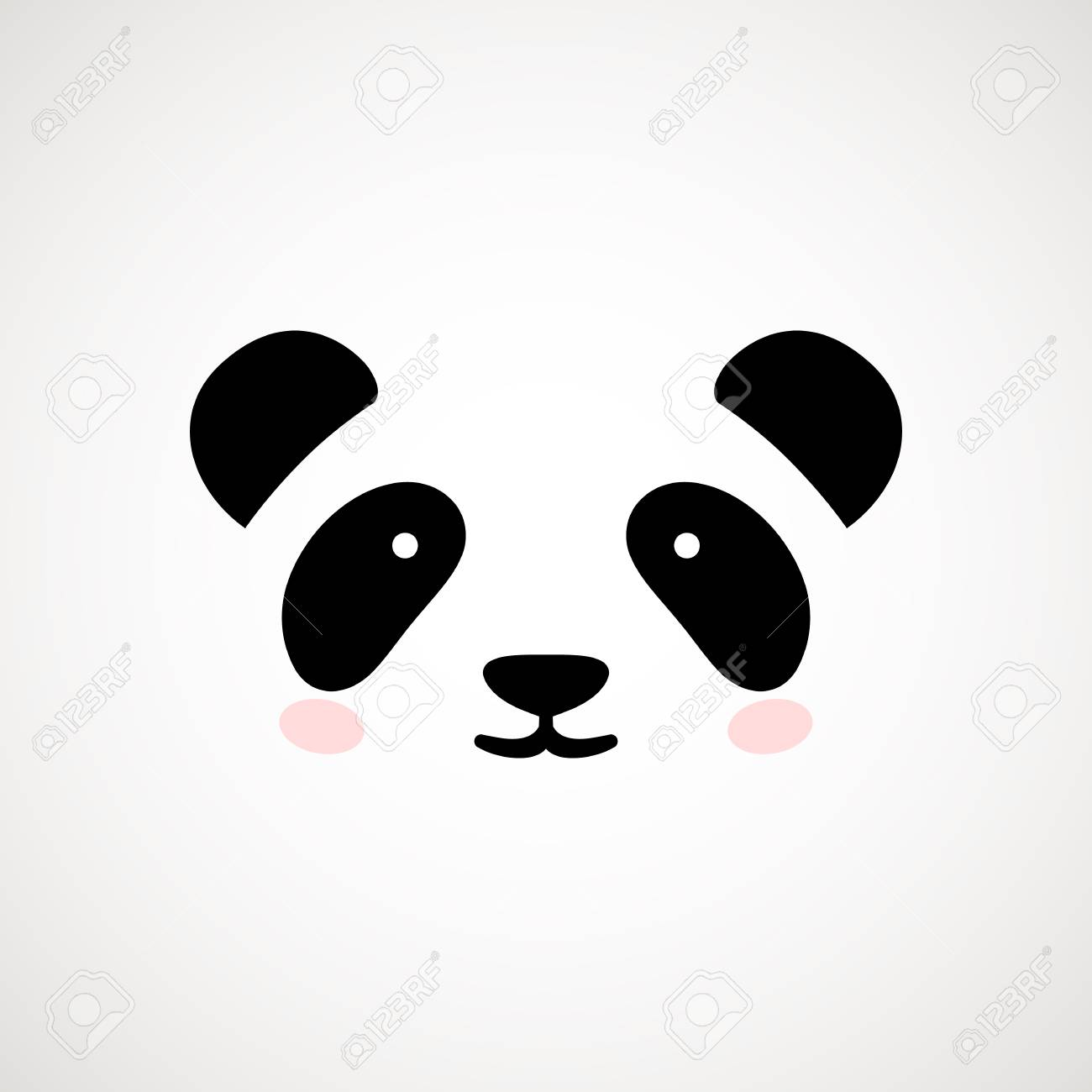 cute panda face vector illustration panda bear logo design