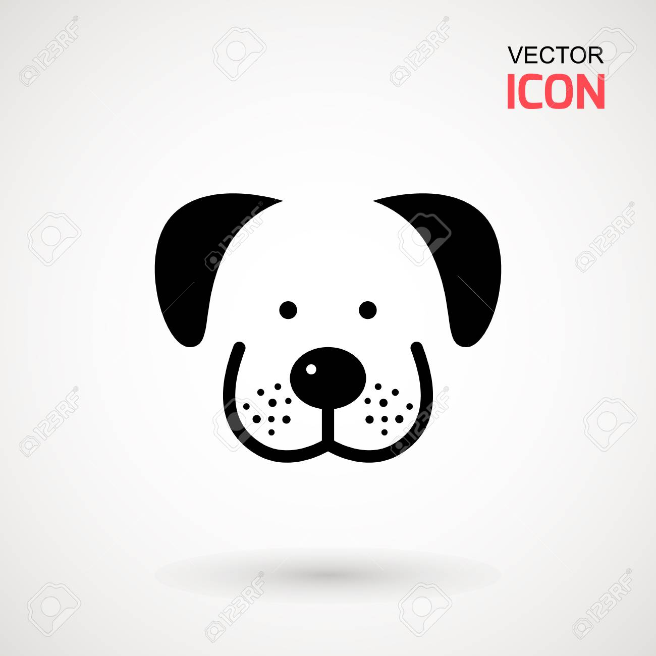 Dog Head Icon Flat Style Cartoon Dog Face Vector Illustration Royalty Free Cliparts Vectors And Stock Illustration Image 104393509
