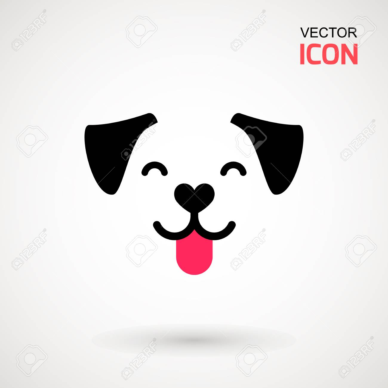 Dog Head Icon Flat Style Cartoon Dog Face Vector Illustration Royalty Free Cliparts Vectors And Stock Illustration Image 104393590