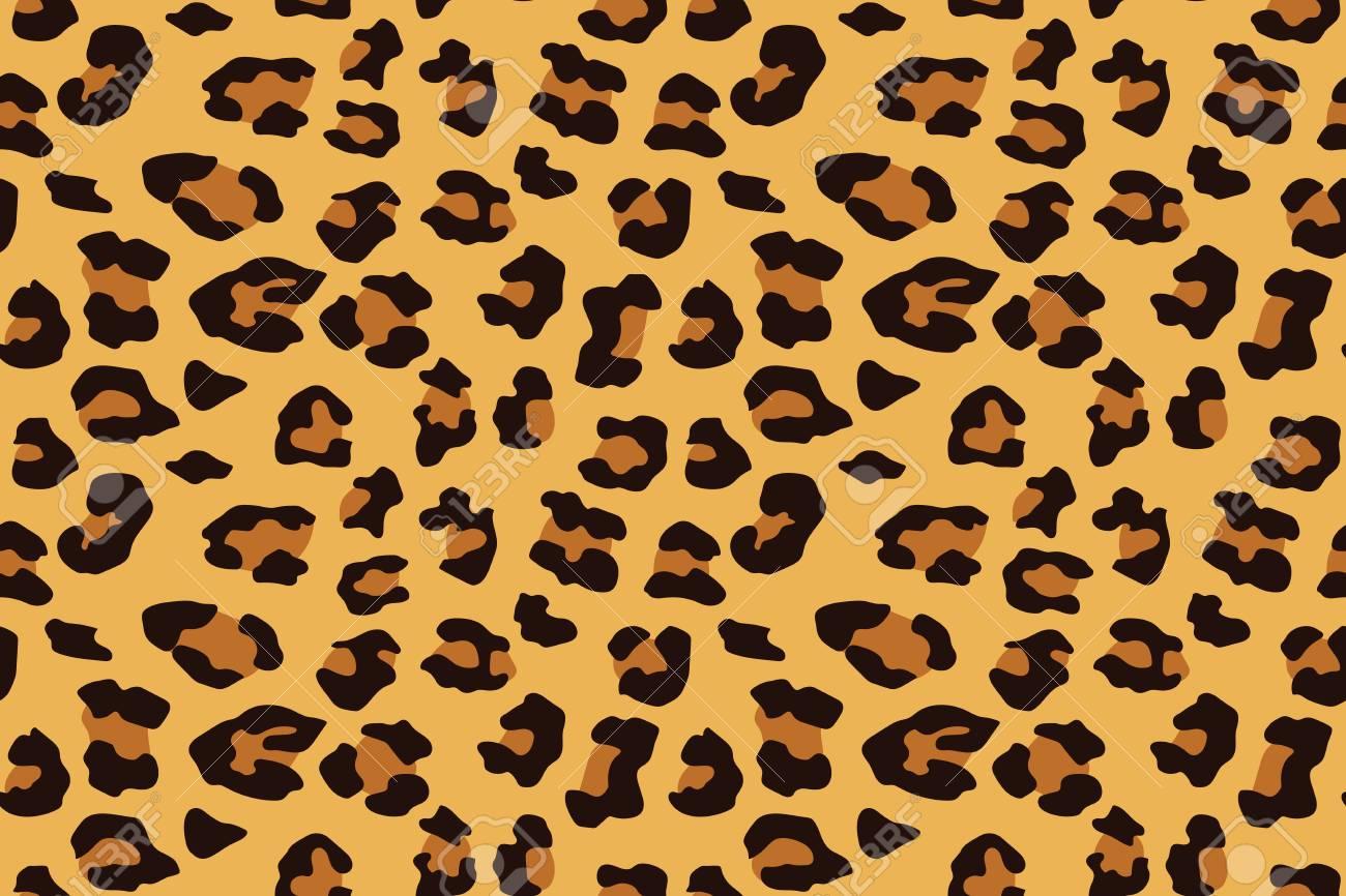 Leopard seamless pattern. Animal print. Vector background. - 106917983