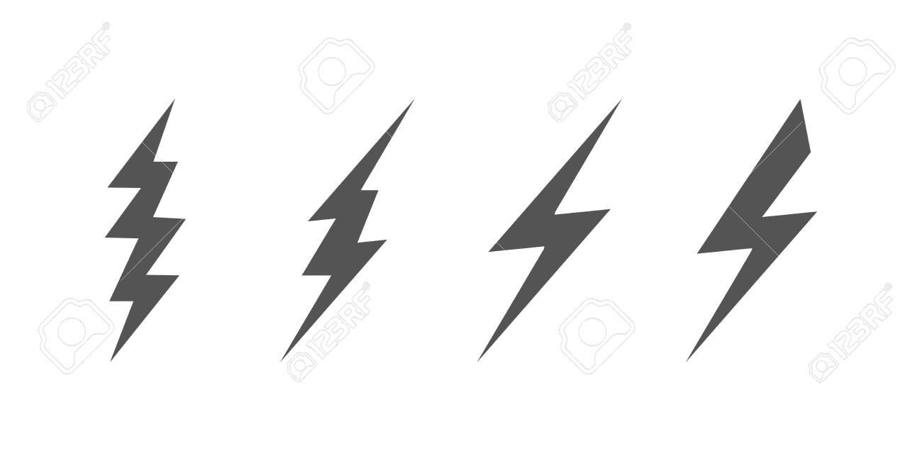 Bolt Of Lightning Vector. Set Of Lightning Illustration. Streak Of ...