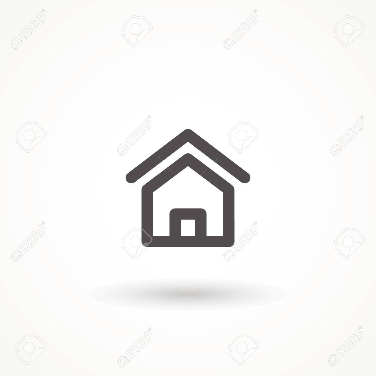 House icon with door, outline design vector Home icon Editable strok. - 140513017