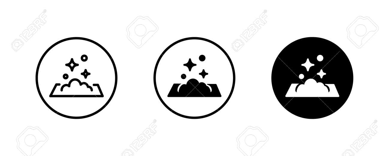 clean surface icon, easy cleaning, napkin Windows cleaning cloth. Surface wiping, disinfection and cleanness icons button, vector, sign, symbol, logo, illustration, editable stroke, flat design style - 164148430