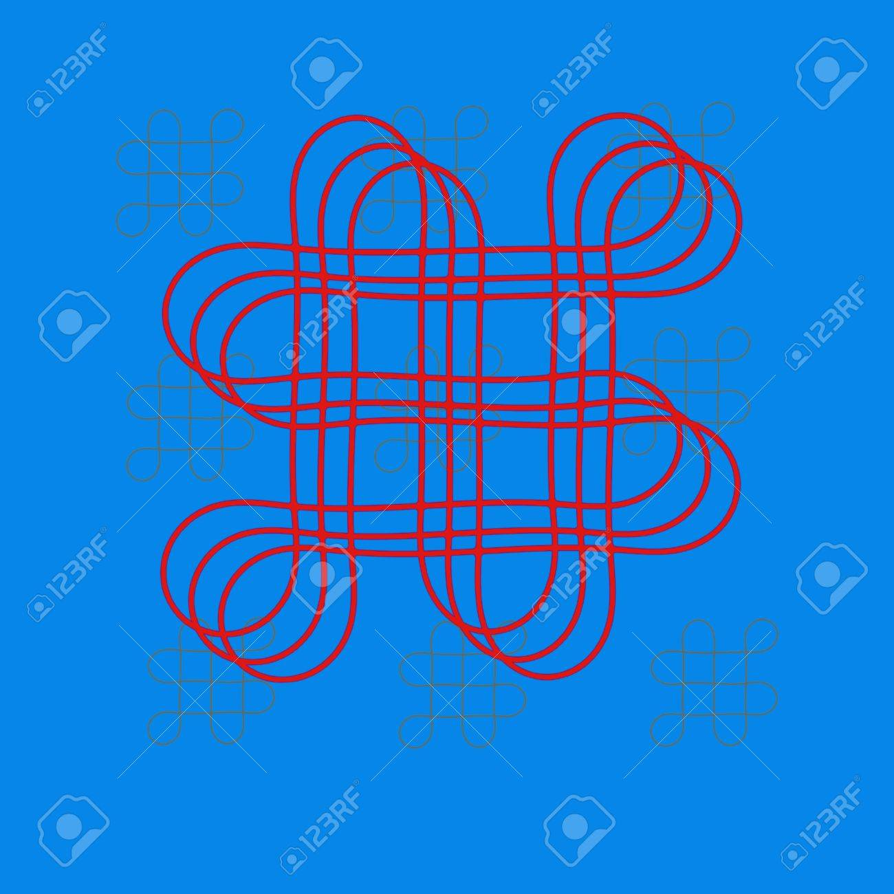 Oriental Infinity Symbol Mystic Knot Pattern Stock Photo Picture