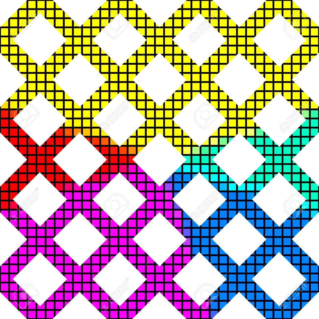 Resumen Cuadrícula Recortada De Un Arco Iris Pixelada Textura ...