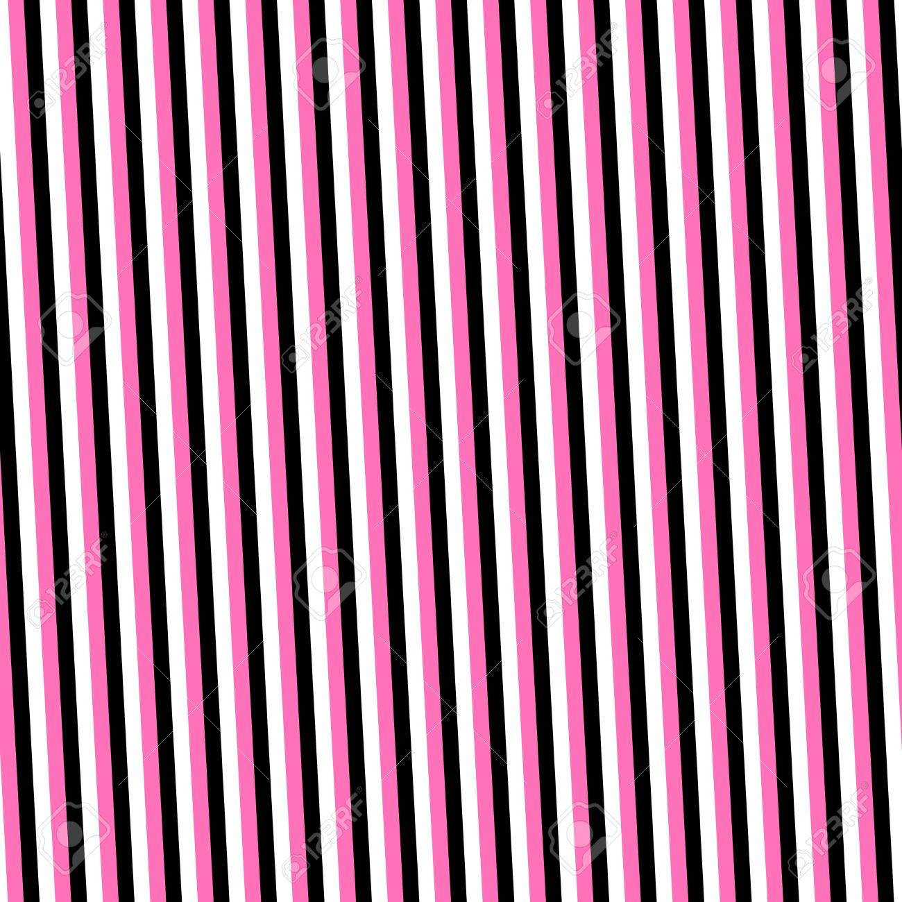 Pink black white narrow stripes background stock photo 46698836