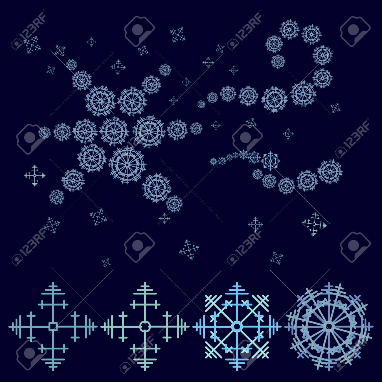 Fabuleux Decorativa Blu Stelle Composto Da Fiocchi Di Neve - Grafica  XR66