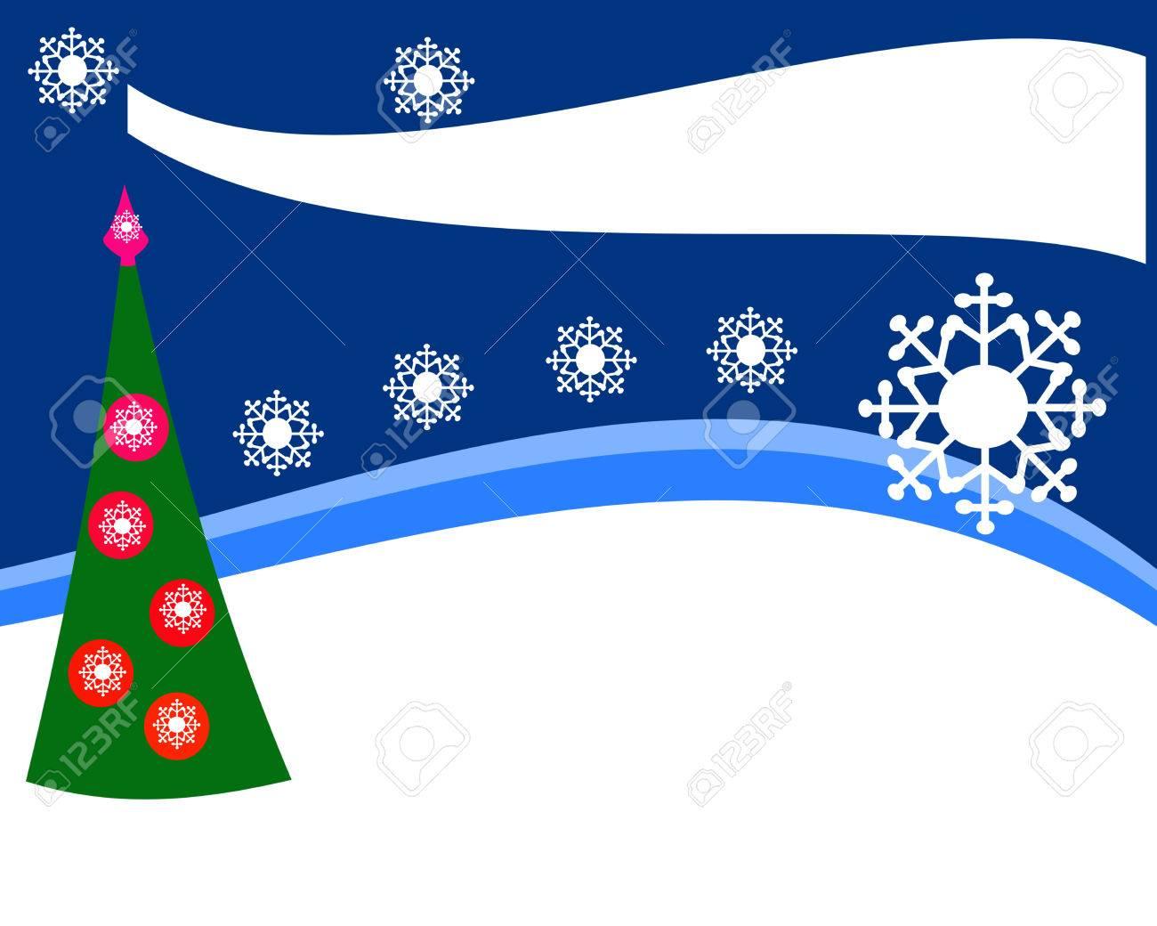 Diseño Simple Para La Oferta De Navidad De Bienes O Volante, Paisaje ...