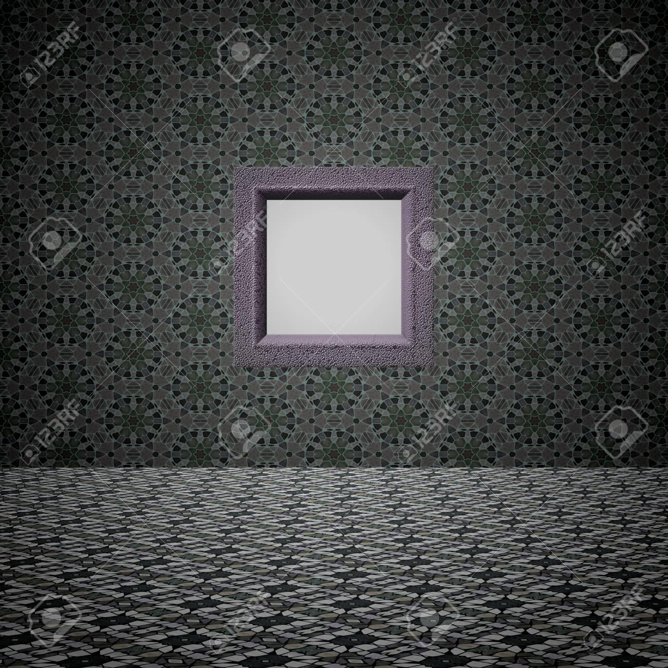 Raster-Hintergrund - Simulierten Raum Mit Fliesenboden Und Die Mit ...