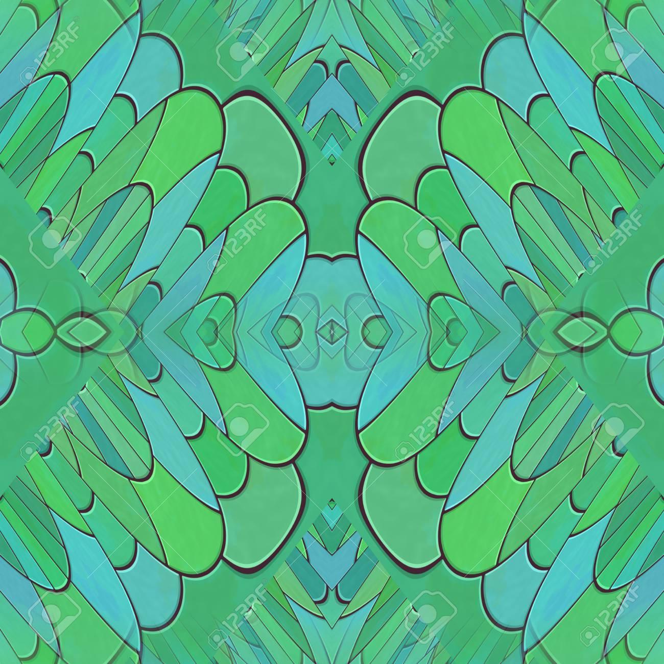 Abstract Turkis Kaleidoskopischen Mosaik Fliesen Konnen Muster