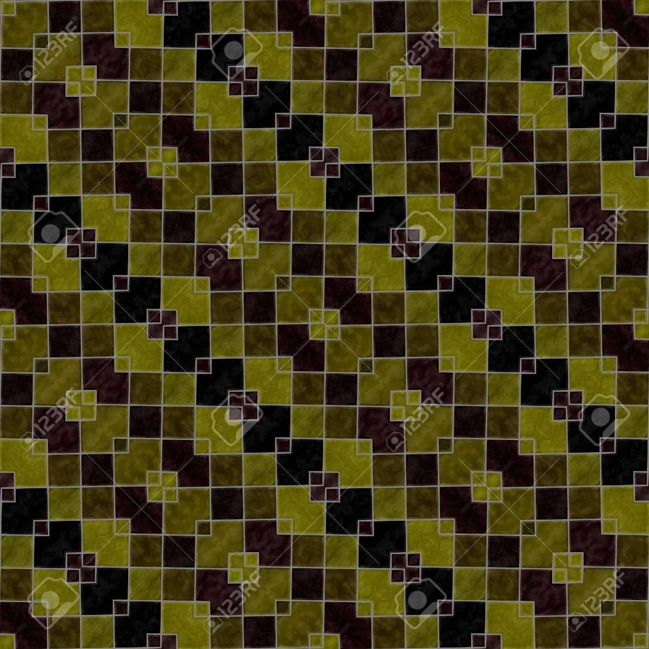 Abstrakt Schrag Gestreifte Gold Ocker Braun Schwarz Kaleidoskop