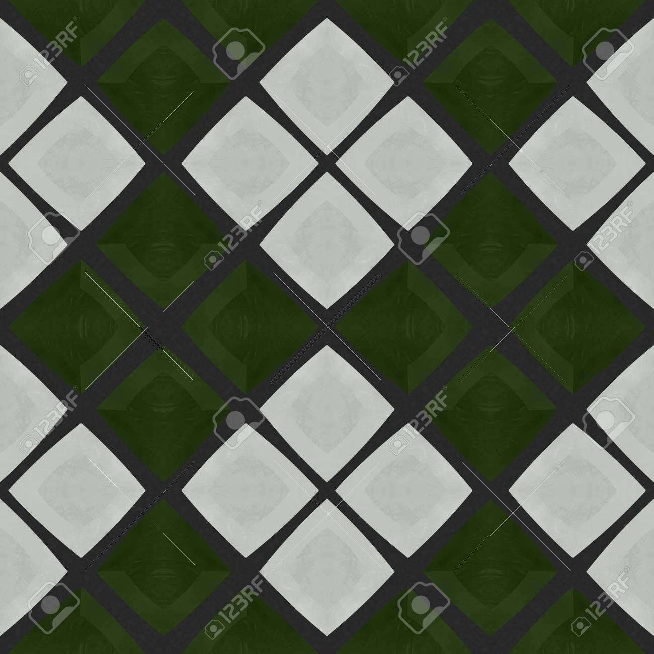 Zusammenfassung Karierten Grun Grau Mosaik Fliesen Muster