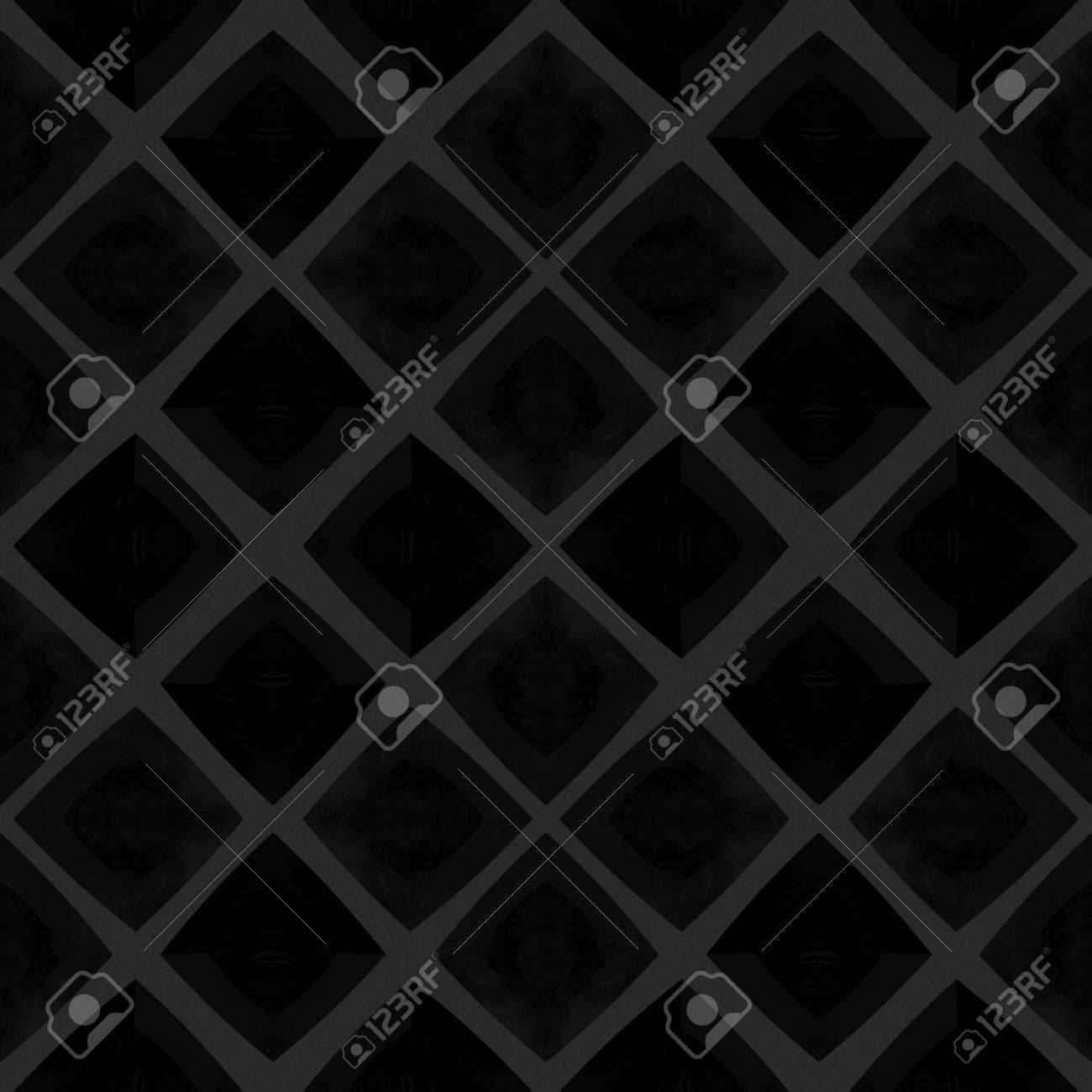 Abstract Checkered Black Mosaic Tile Pattern In Spanish Ceramics Style  Banco De Imagens   52059358
