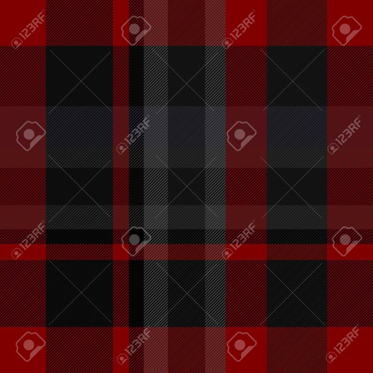 Textil Textura Patron Negro Rojo Gris A Cuadros Abstracto