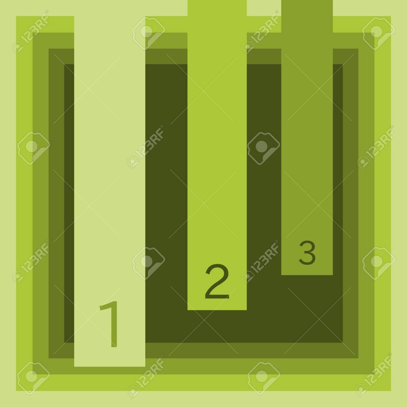 Informacion Grafica De Tres Pasos Generales En Tonos Verde Oliva - Tonos-verde