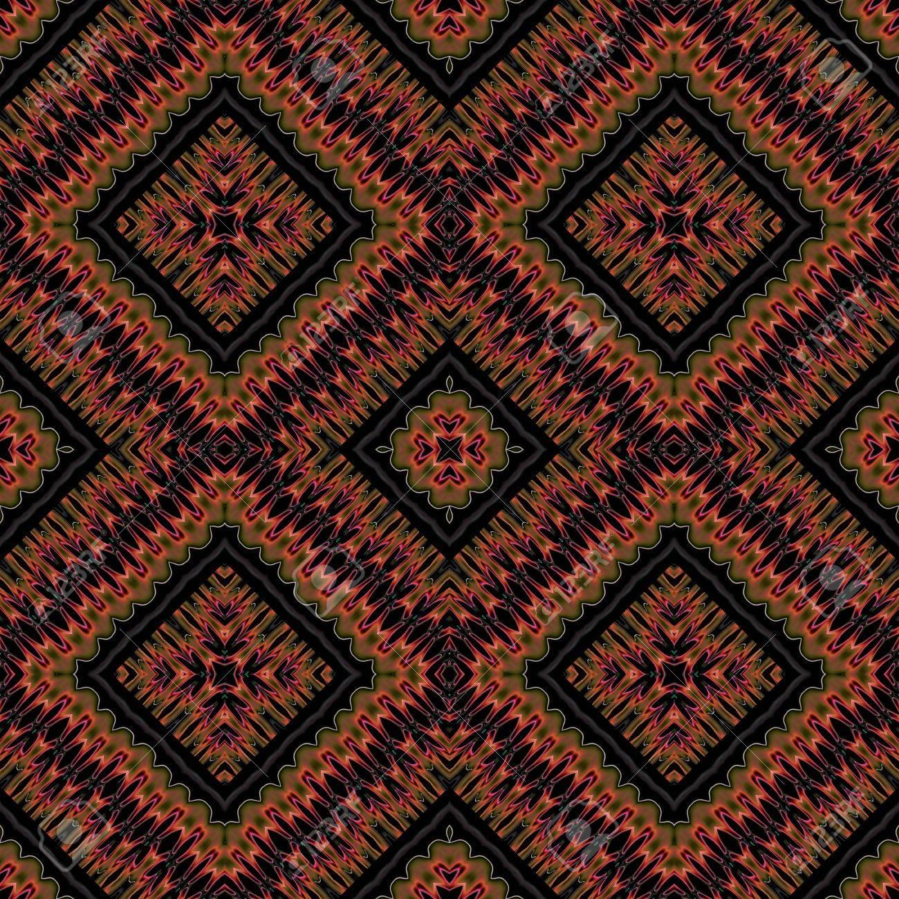 シームレスな市松模様茶色正規歴史壁紙 の写真素材 画像素材 Image