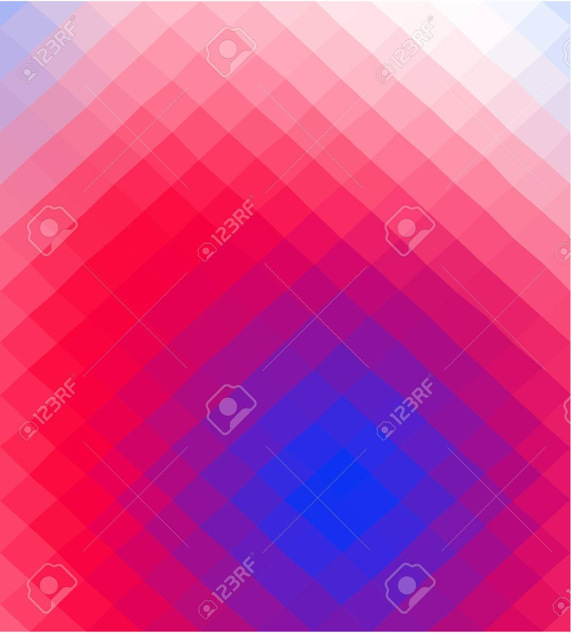 Abstract Blue Red White Low Poly Squared Business Background