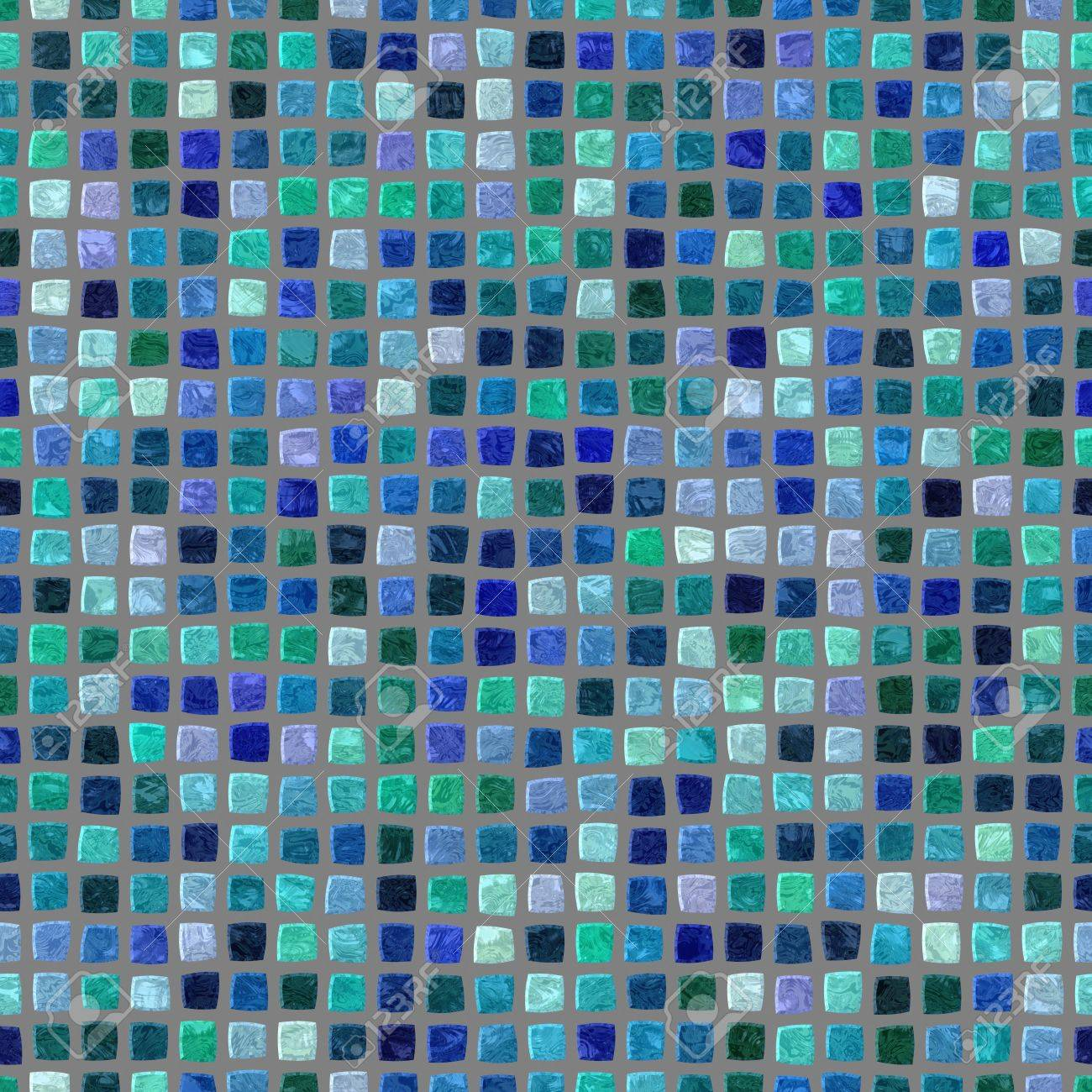 Blue Turquoise Lilac Retro Mosaic Pattern - Seamless Digitally ...
