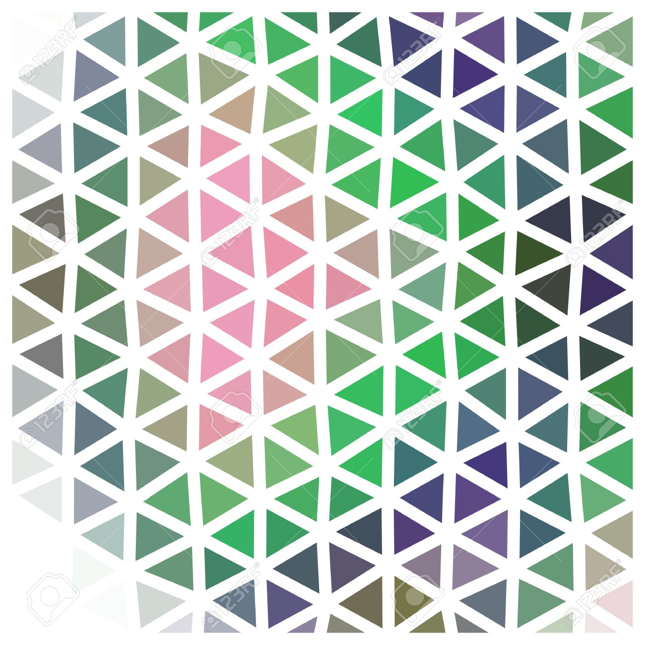 Abstract Triangular Low Poly Pattern With White Grid