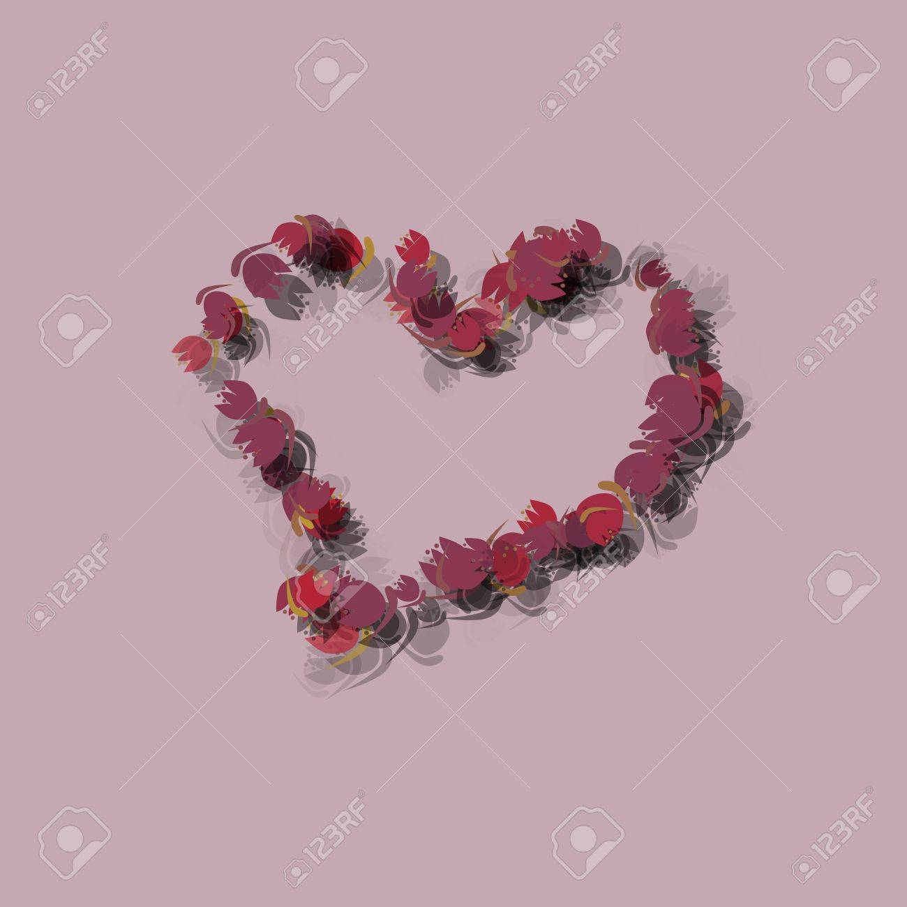 Muted pink background with big heart symbol shape composed of muted pink background with big heart symbol shape composed of small tulip flowers stock photo buycottarizona Image collections