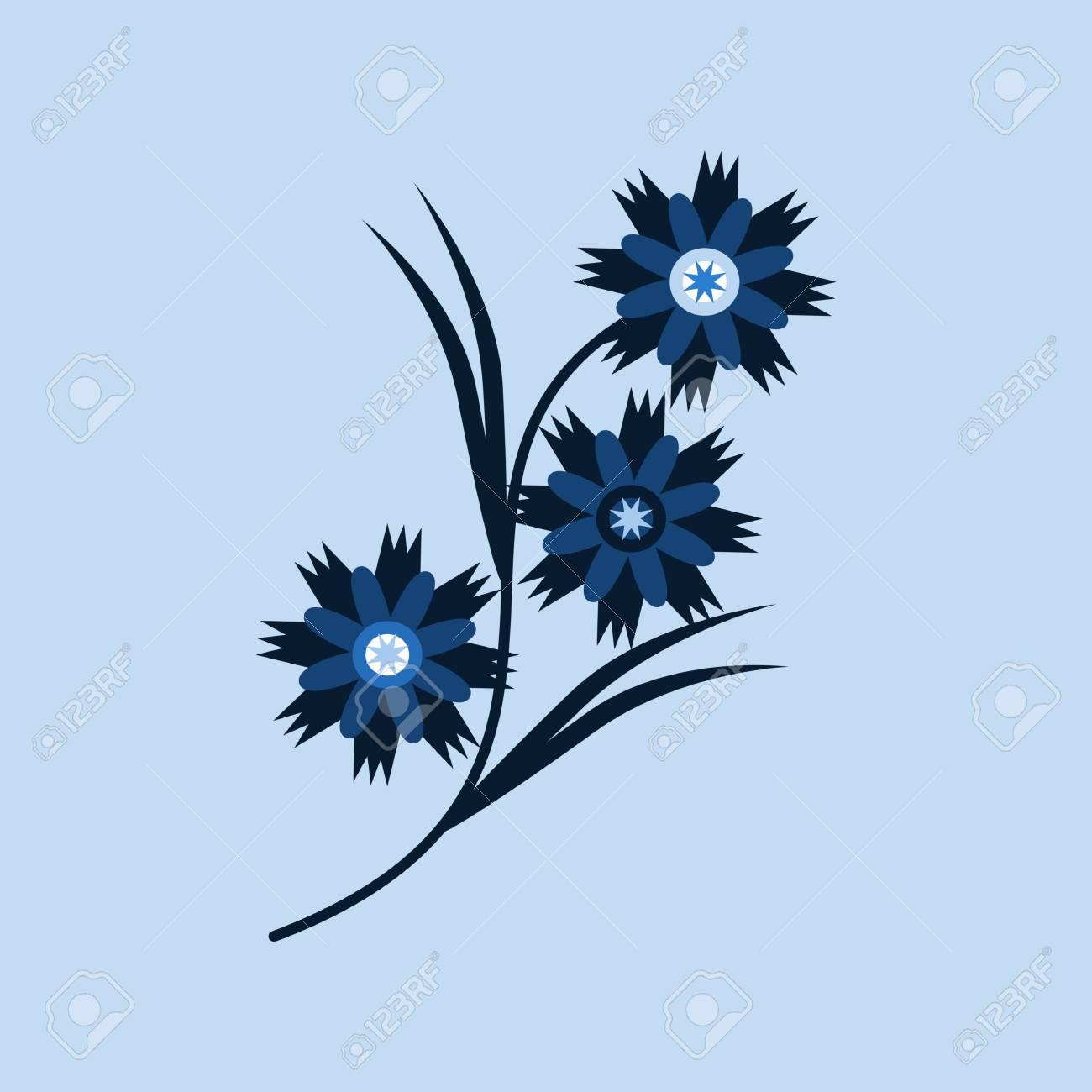 Cornflower blue decorative floral design vector drawing royalty cornflower blue decorative floral design vector drawing stock vector 94716088 izmirmasajfo