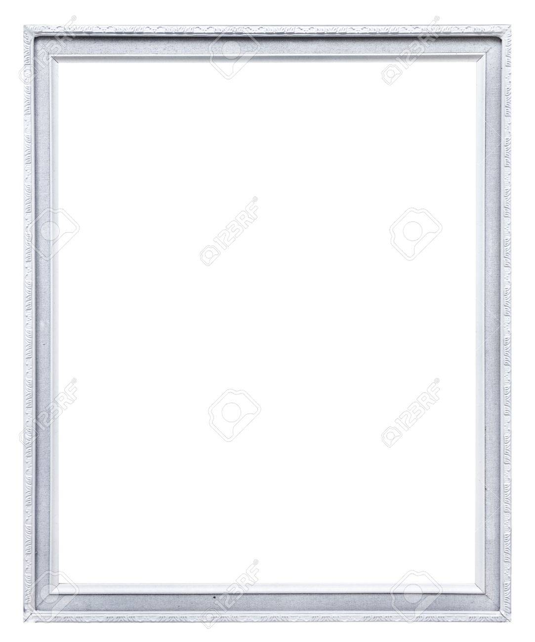 white picture frame  isolated on white Stock Photo - 14436600