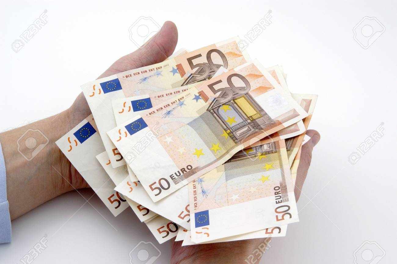 Hands holding fifty Euro banknotes Stock Photo - 3193271