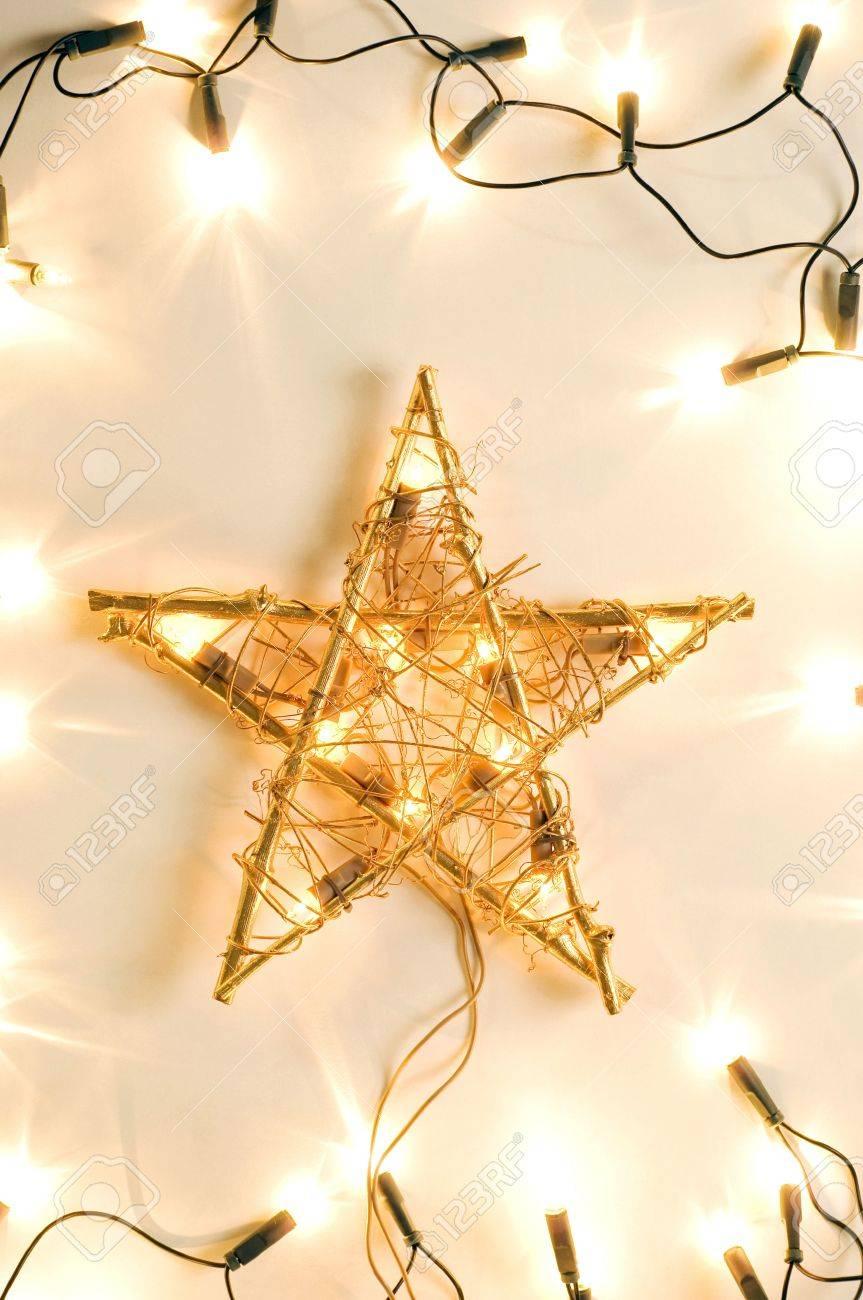 Christmas star and Christmas tree lights Stock Photo - 3193647