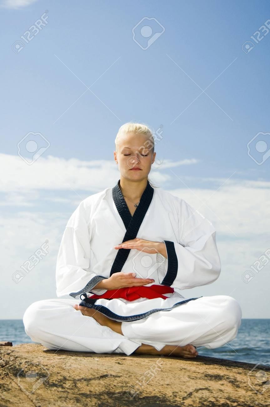 Woman meditating Stock Photo - 3194002