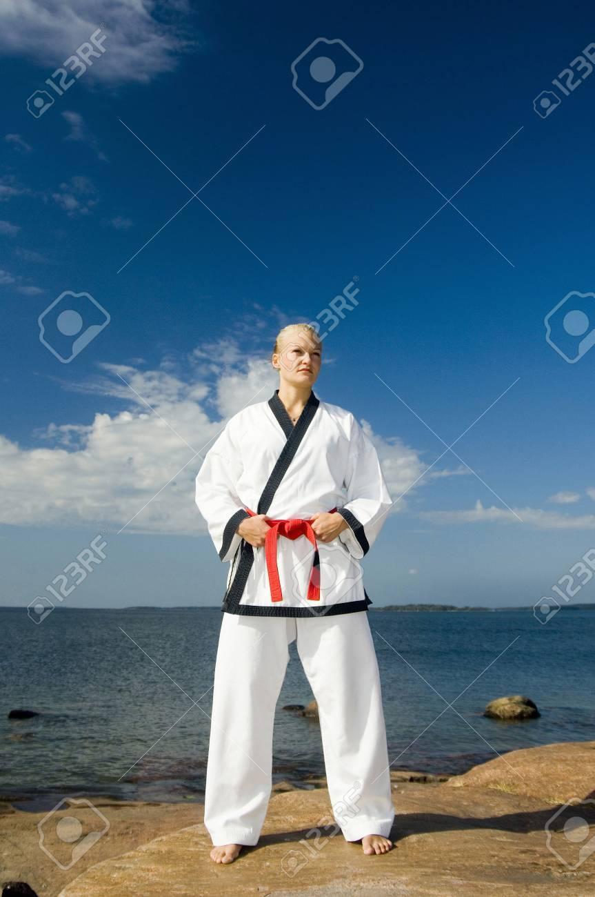 Woman in Dobok Stock Photo - 3194020